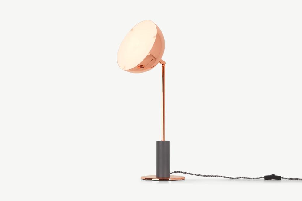 Lumo Tischlampe Kupfer Und Anthrazit In 2021 Tischlampe Kupfer Tischlampen Lampe