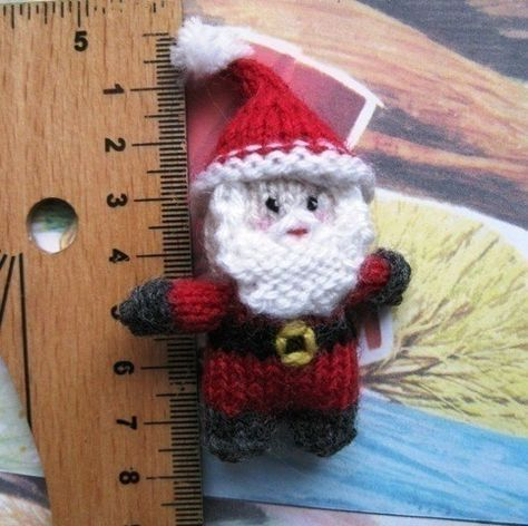 Tiny Santa Knitting Pattern Stricken Pinterest Knit Patterns