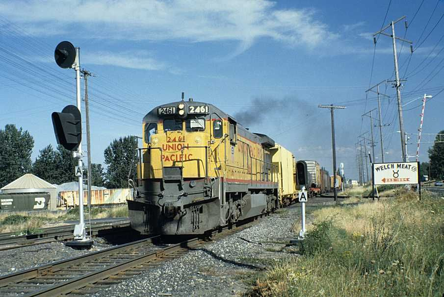 Union Pacific Railroad Freight Train Symbol N211 At Peninsula