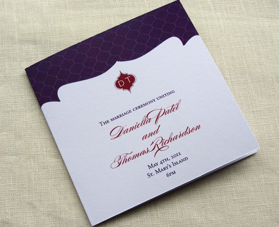 What Goes Into A Wedding Invitation: Sample Wording: What Goes In A Wedding Program