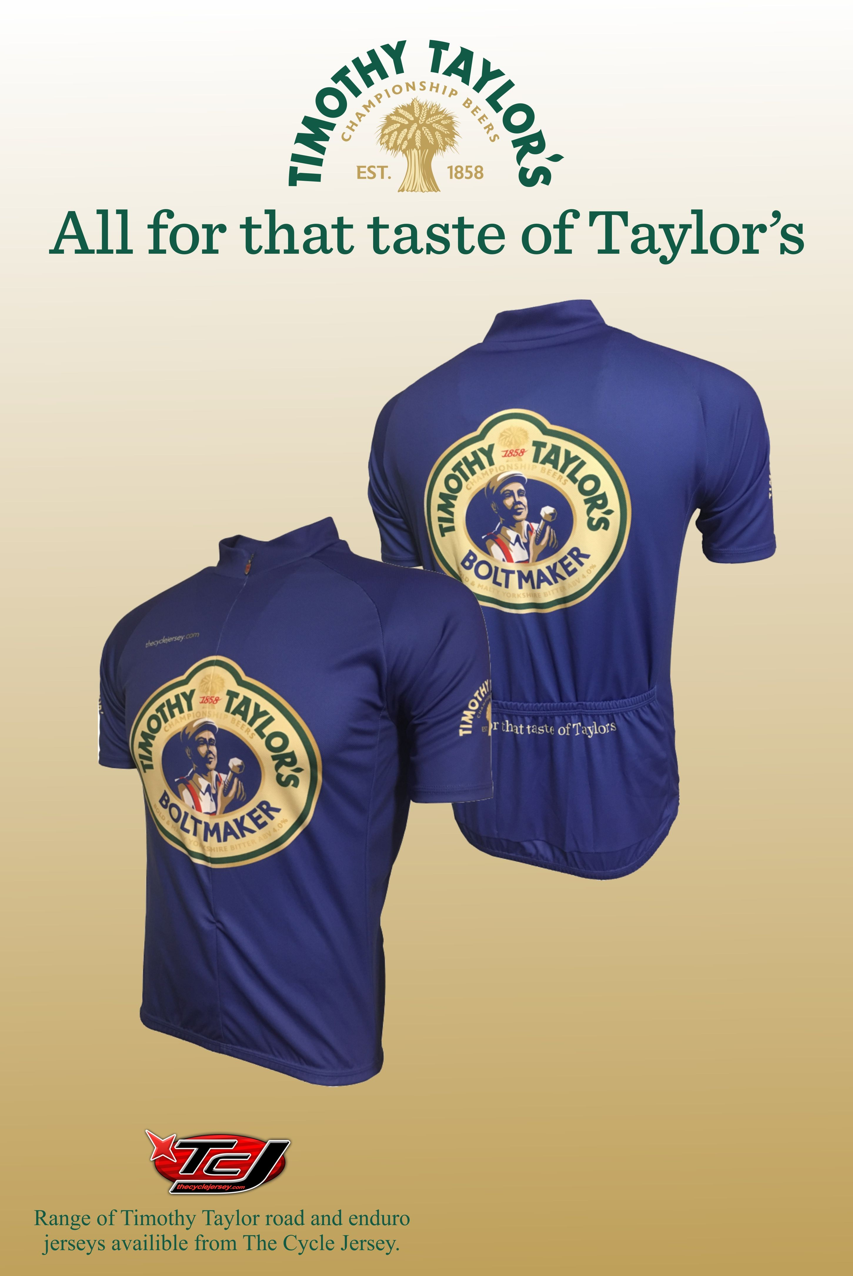 a3f4e0fc8 Why not a Timothy Taylor cycling jersey so they can enjoy a post ride  tipple in a matching jersey