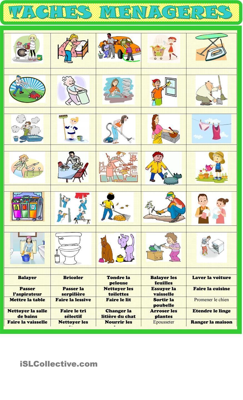 Préférence Vocabulaire / exercice d'association | LA ROUTINE | Pinterest  WI99