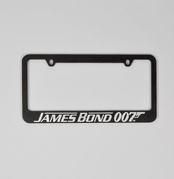 James Bond 007 License Plate Frame License Plate Frames License Plate Plate Frames
