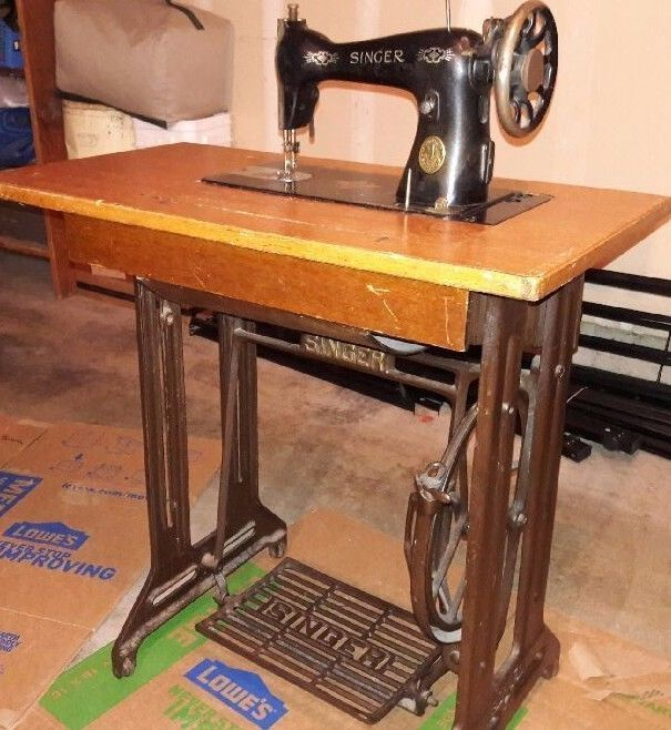 Beautiful Antique Singer Manual Foot Pedal Sewing Machine Antique Sewing Machines Antiques Antique Sewing Table