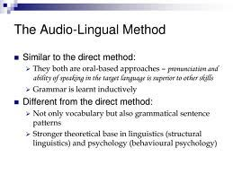 essay about audio lingual method