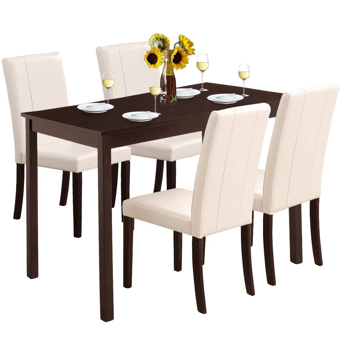 Harper Andamp Bright Designs Dining Table Set For 4 Find Out More About The Great Product Kitchen Table Settings Dinning Table Set Modern Glass Dining Table Cheap dining table and chairs set