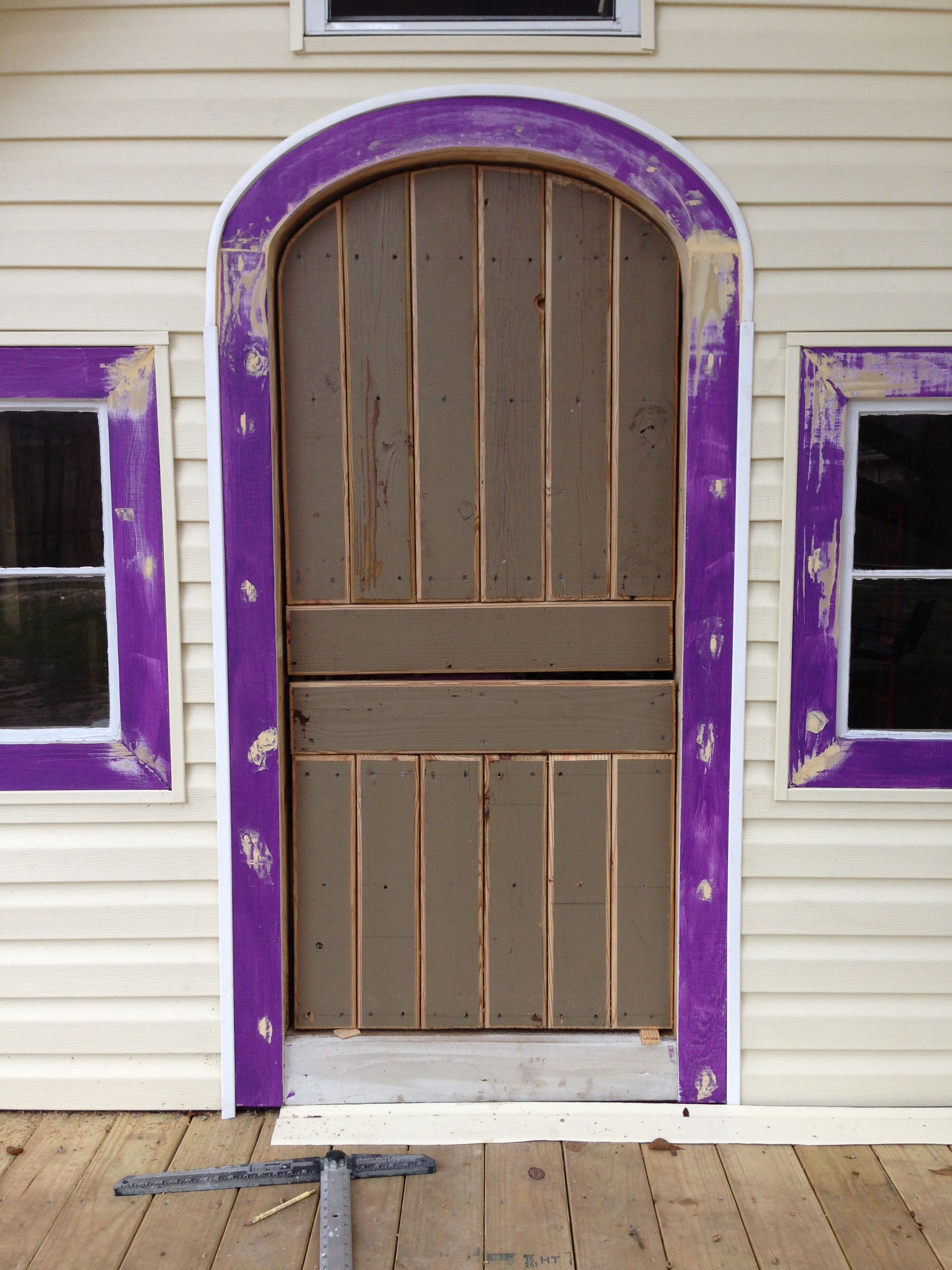 Liviu0027s Playhouse   Having To Make Doors , Because It Is Only 5 Feet Tall  And Arched And A Dutch Door . Very Time Consuming .