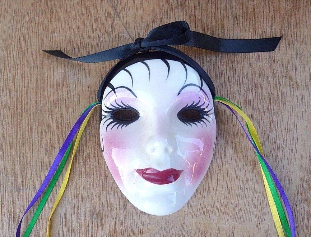 Porcelain Masks Decoration Amazing Vintage 1996 Porcelain Face Mask Decorative Fancy Face New Orleans Review