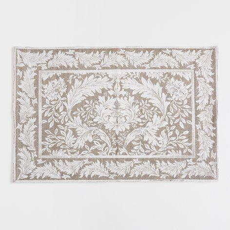 Zara Home Teppich nerzfarbener teppich mit damastmuster dekoration nordic
