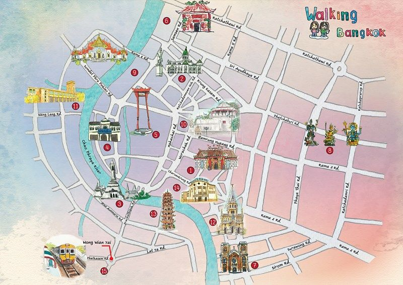 Download 15 Free Walking Maps of Bangkok in English ...