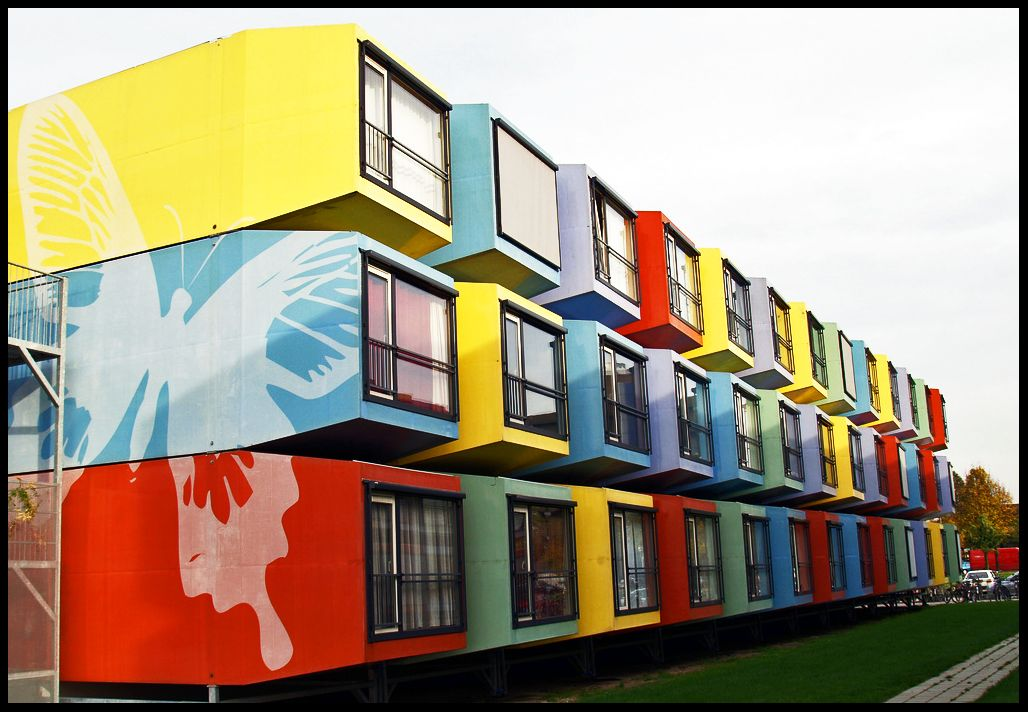 Utrecht university student housing shipping containers so for Immeuble en container