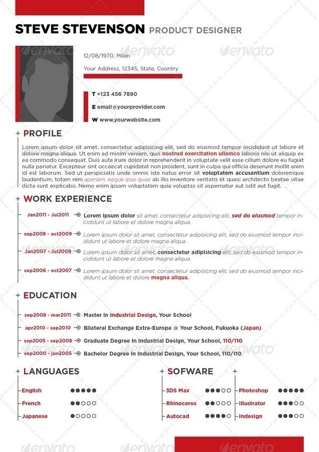 curriculum vitae creativo | Diseño | Pinterest | Curriculums vitae ...