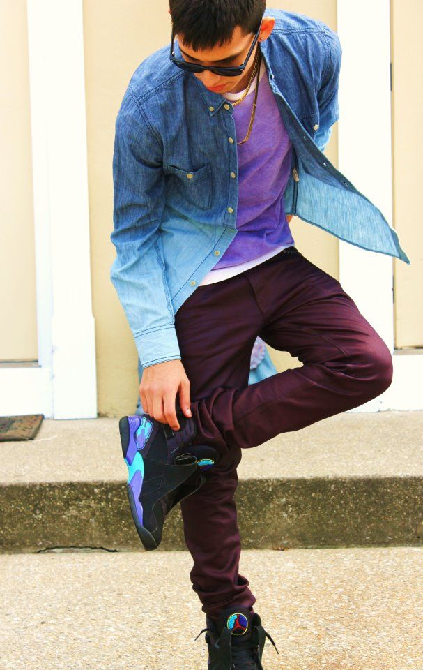 e0afd00ce5d61a A cool outfit found on tumblr with Aqua 8s.