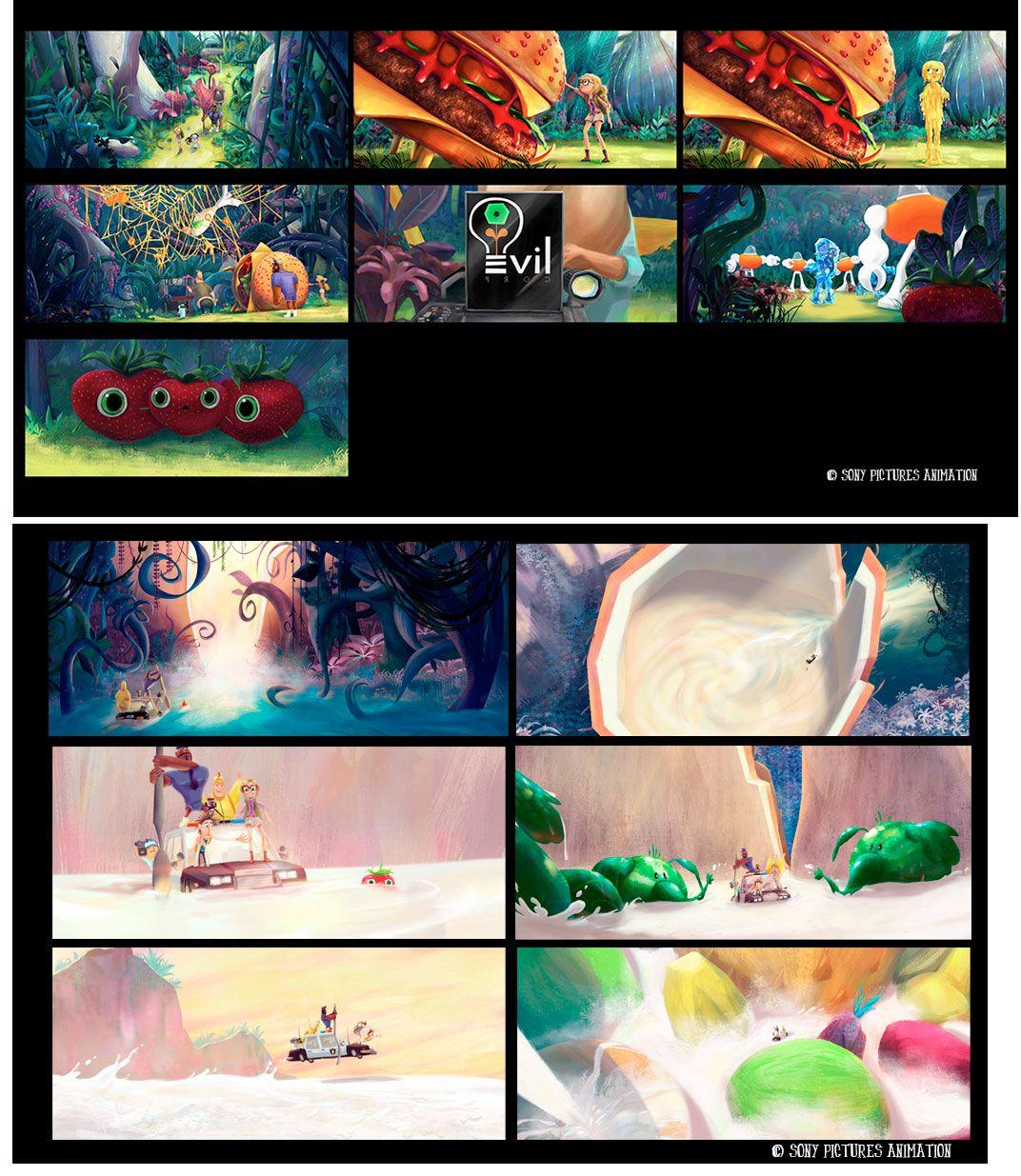 Arte de Samantha Kallis para o filme Cloudy 2