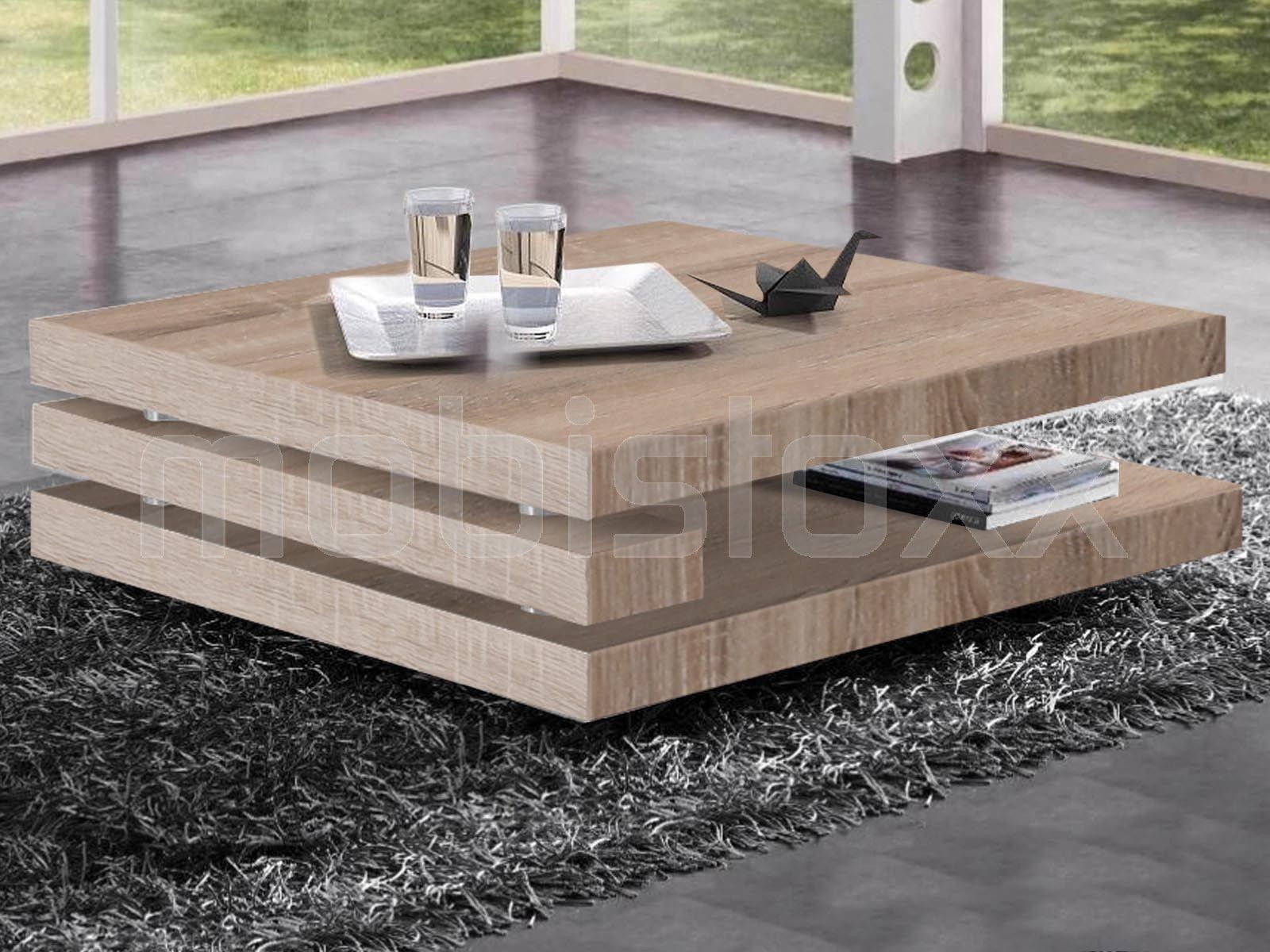 Table Basse Antonio Carree Sonoma Clair Table Basse Table Basse Design Table Basse Bois Clair