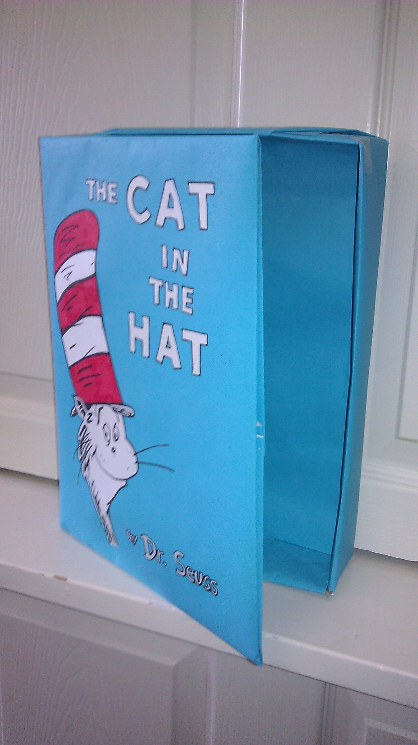 A Cat In The Hat Book Made From A Cereal Box Wrapped In