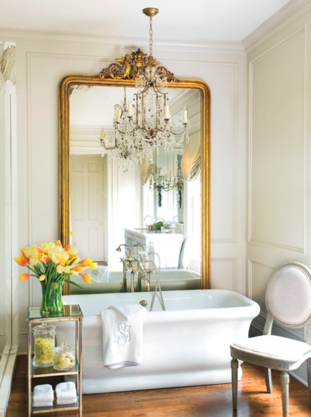 The mirror, the tub, the table... oh my! I love it all.