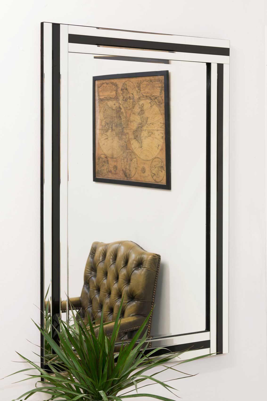 Tavistock Triple Black Glass Mirror 120x80cm from Soraya Interiors ...