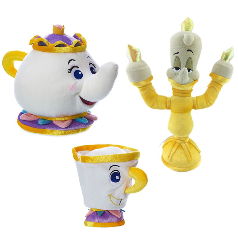 Potts Exclusive 7.5-Inch Plush Disney Princess Beauty and the Beast Mrs 2016