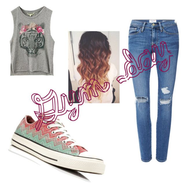 """""""Gym day"""" by purplepizza on Polyvore featuring Frame Denim and Converse"""