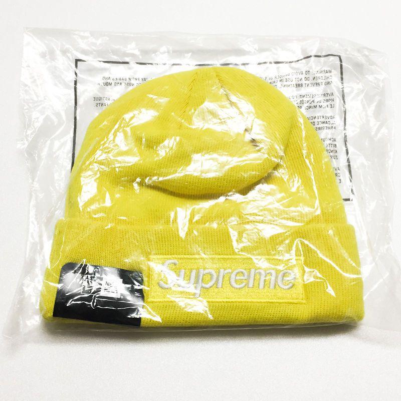 3ddefdab46b SUPREME Box Logo Beanie Yellow 2016FW Newera New Era 100% AUTHENTIC  SUPREME   Beanie