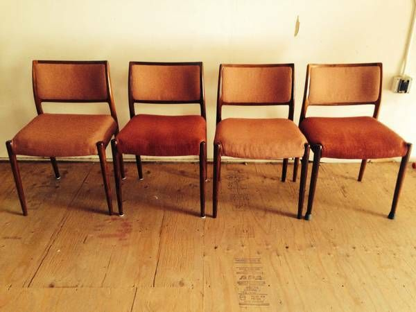 Authentic Niels Otto Moller Rosewood Dining Chairs (4