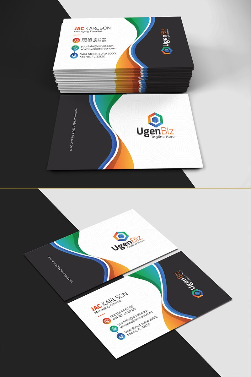 Paint Business Card Corporate Identity Template Corporateidentity Card Business Cards Corporate Identity Colorful Business Card Business Card Design Creative