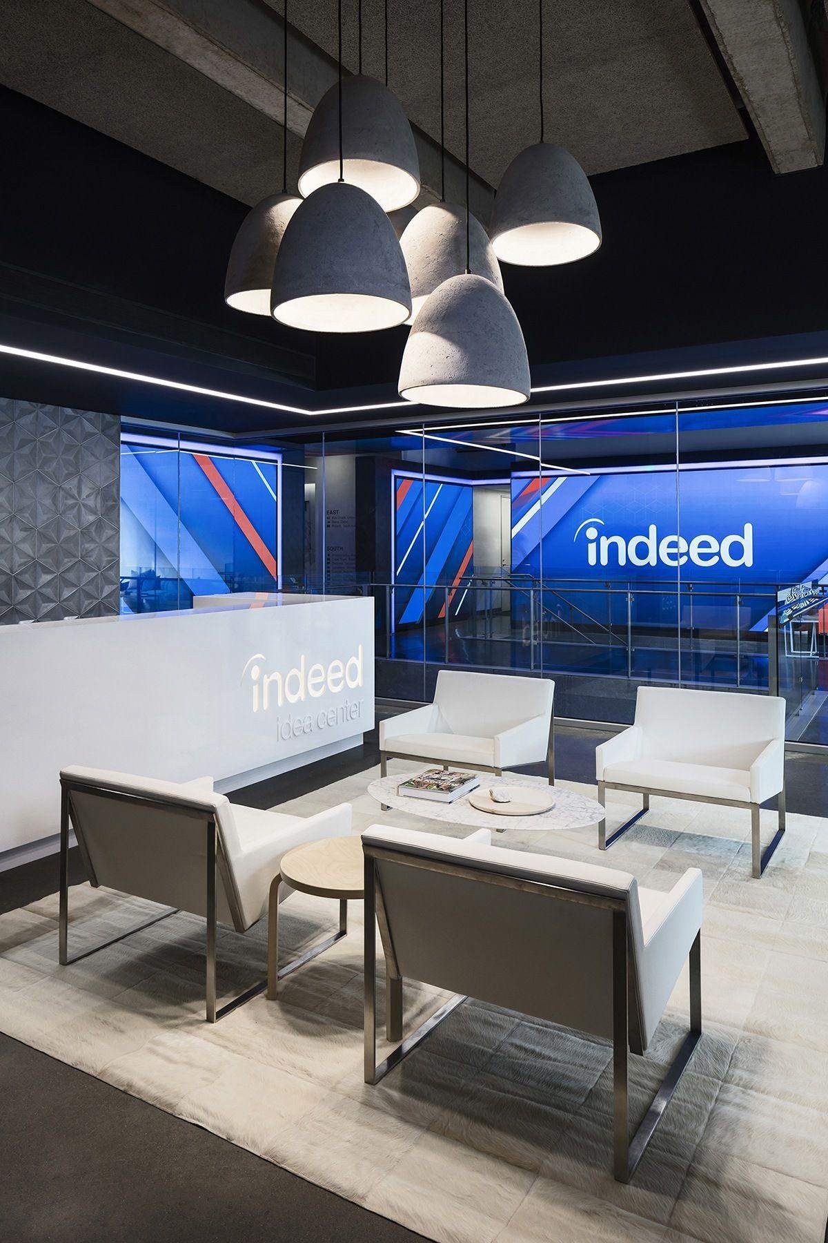 Inside Indeed S New Sleek Austin Headquarters Office Design Lobby Ideas Reception Desk Office