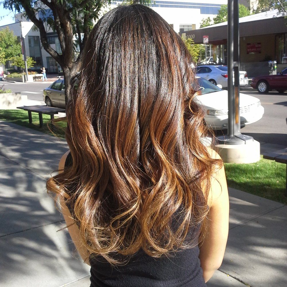 Balayage Ombre Hair Color For Brunettes With Dark Caramel Subtle