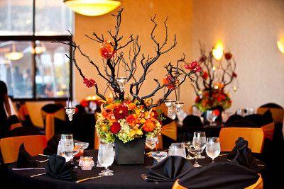 centros de mesa con ramas de arbol para halloween bodegas ilusion