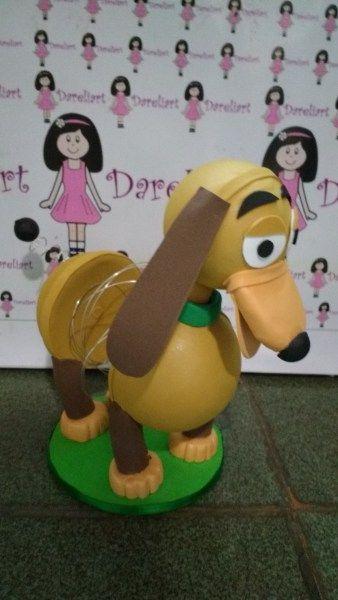 boneco cachorro slinky em eva 3d dareliart 4 festa toy story