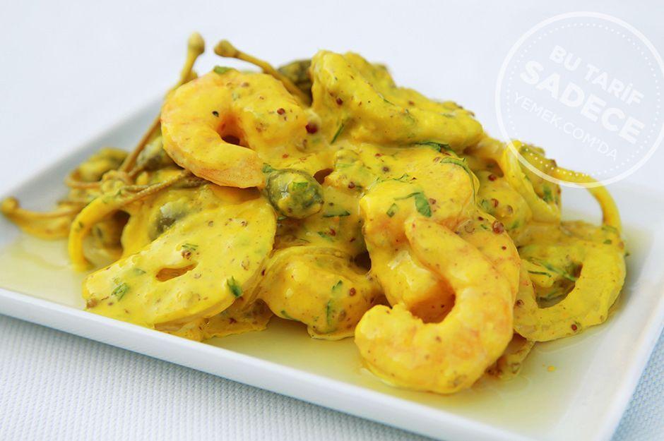 Photo of Shrimp recipe with mustard sauce and avocado from Chef Mezze – Yemek.com