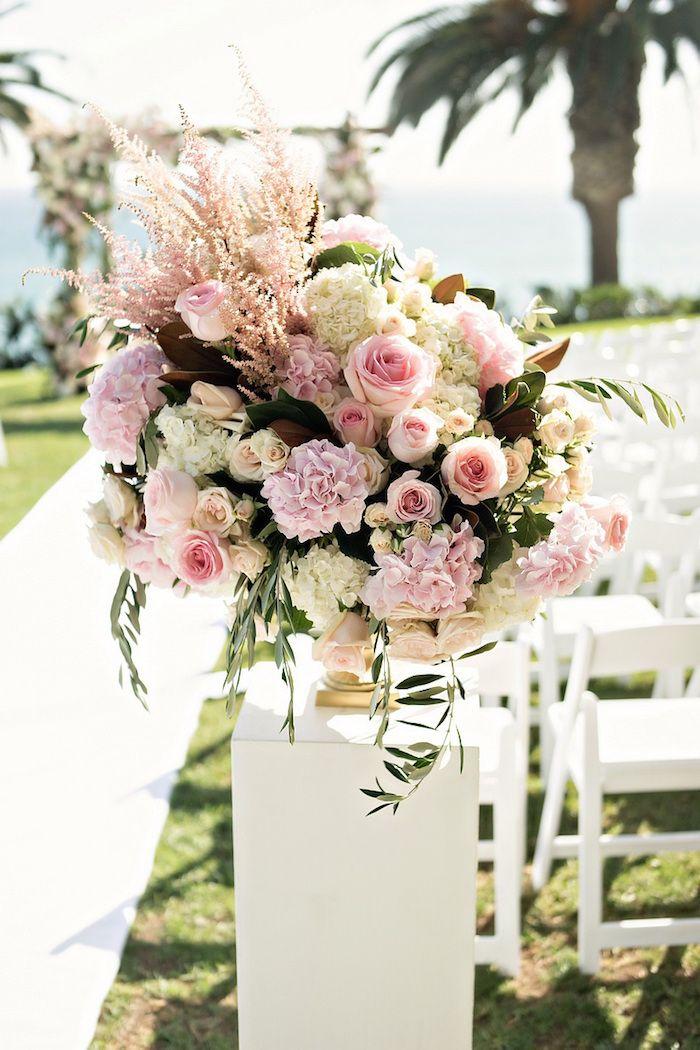 Oceanfront Wedding Ceremony + Classic, Romantic Ballroom Reception - Inside Weddings