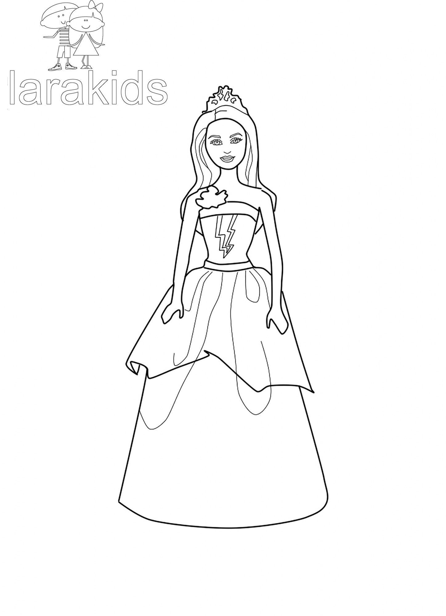 Drucken F Rbung Barbie Super Prinzessin Corinne Ausmalbilder