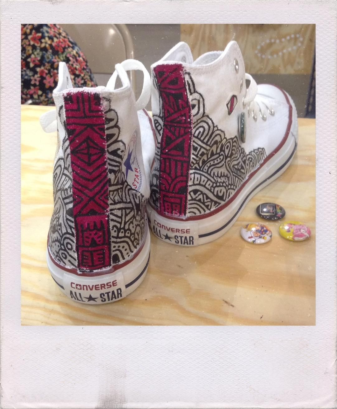 Sweet Converse customization by Sophie Roach in Austin. Painted Canvas Shoes 5c4e8d7e41