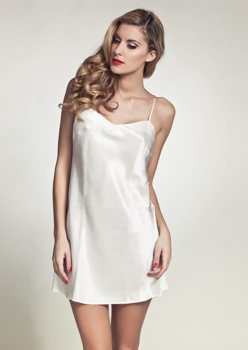 Marjolaine Oda Slip On Dress Black | Marjolaine luxury lingerie | Marjolaine…