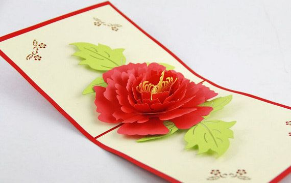 Peony flower 3d greeting pop up card cricut pinterest peony peony flower 3d greeting pop up card m4hsunfo