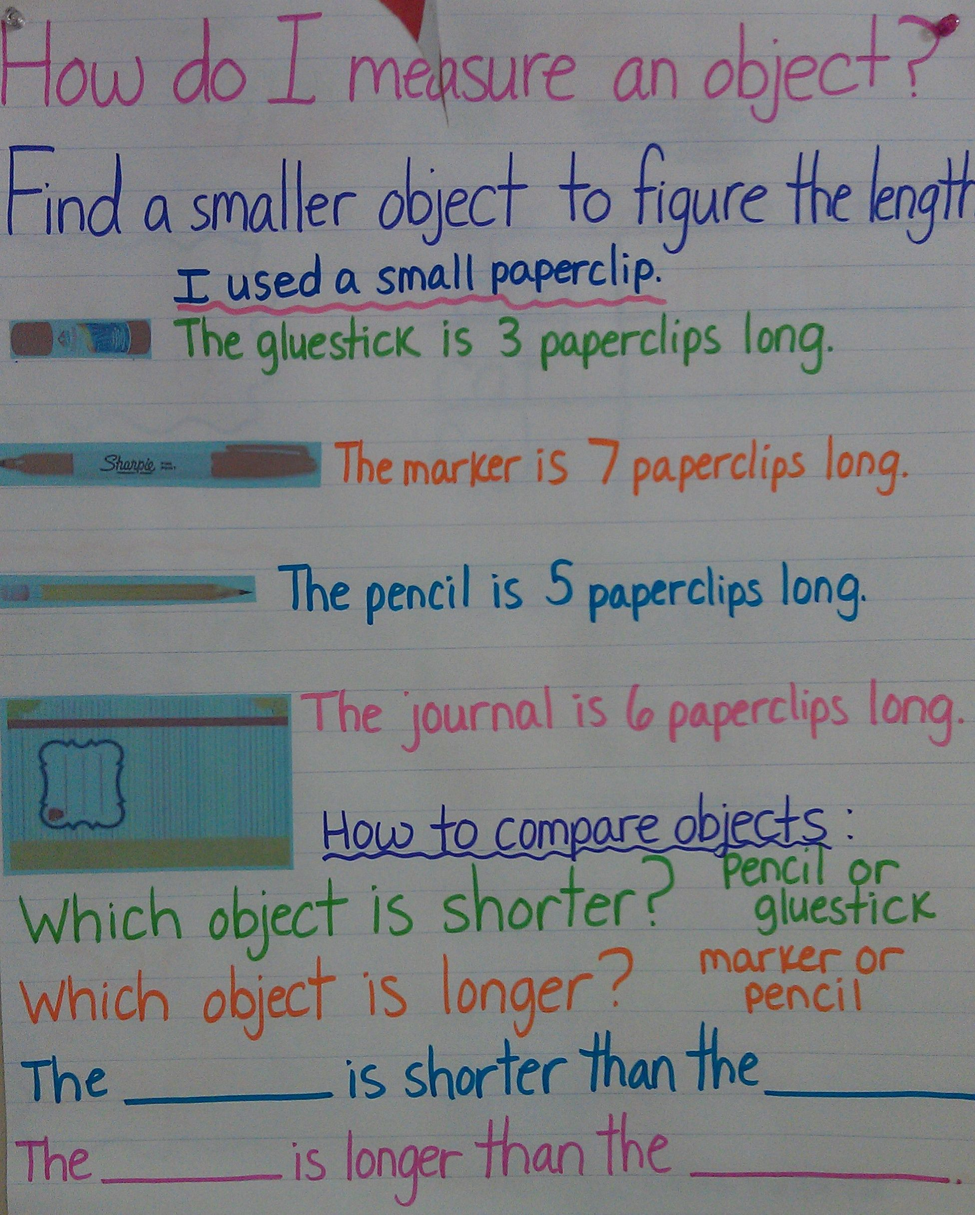 Intro To Measurement Length Anchor Chart