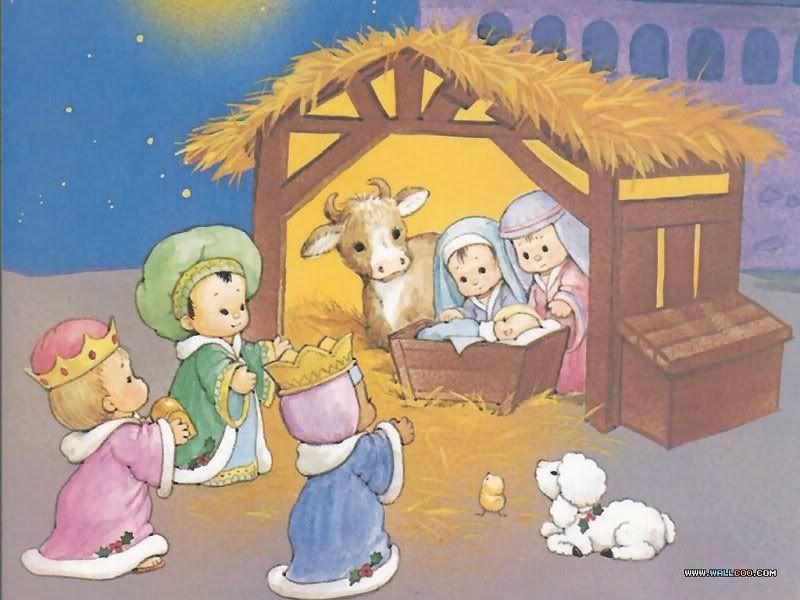 Dibujos de nacimientos navidenos para ninos