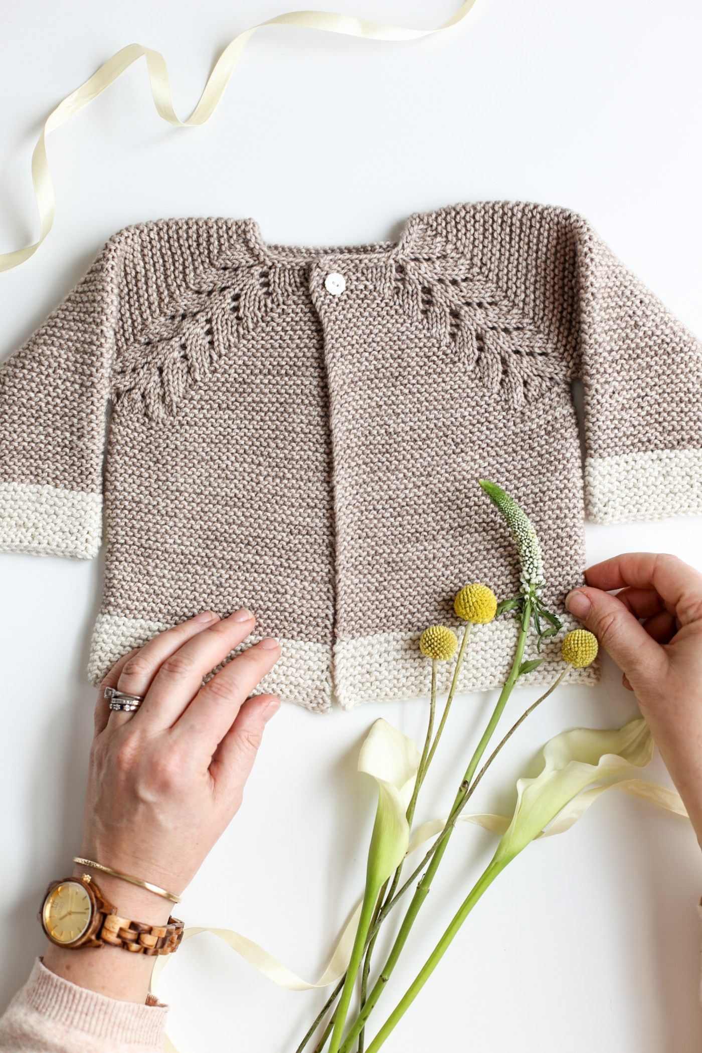 Lovely Knit Top Down Cardigan Baby Sweater | Pinterest | Baby ...