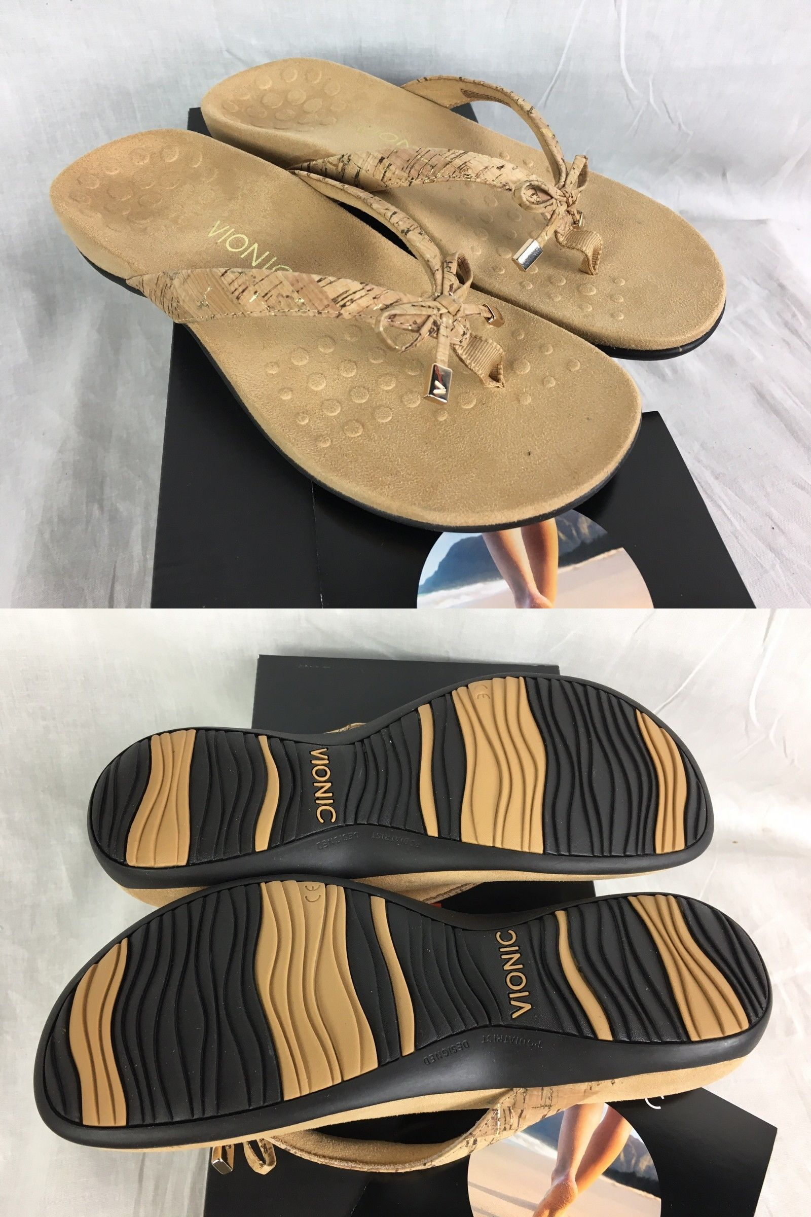 4808b29953f6 Sandals and Flip Flops 62107  New Vionic Bella Ii Toe Post Sandal Flip Flop  Gold