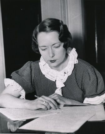 Margaret Mitchell, author of 'Gone with The Wind'. The bestselling novel was published in 1936 and went on to win the Pulitzer Prize and the National Book Award.