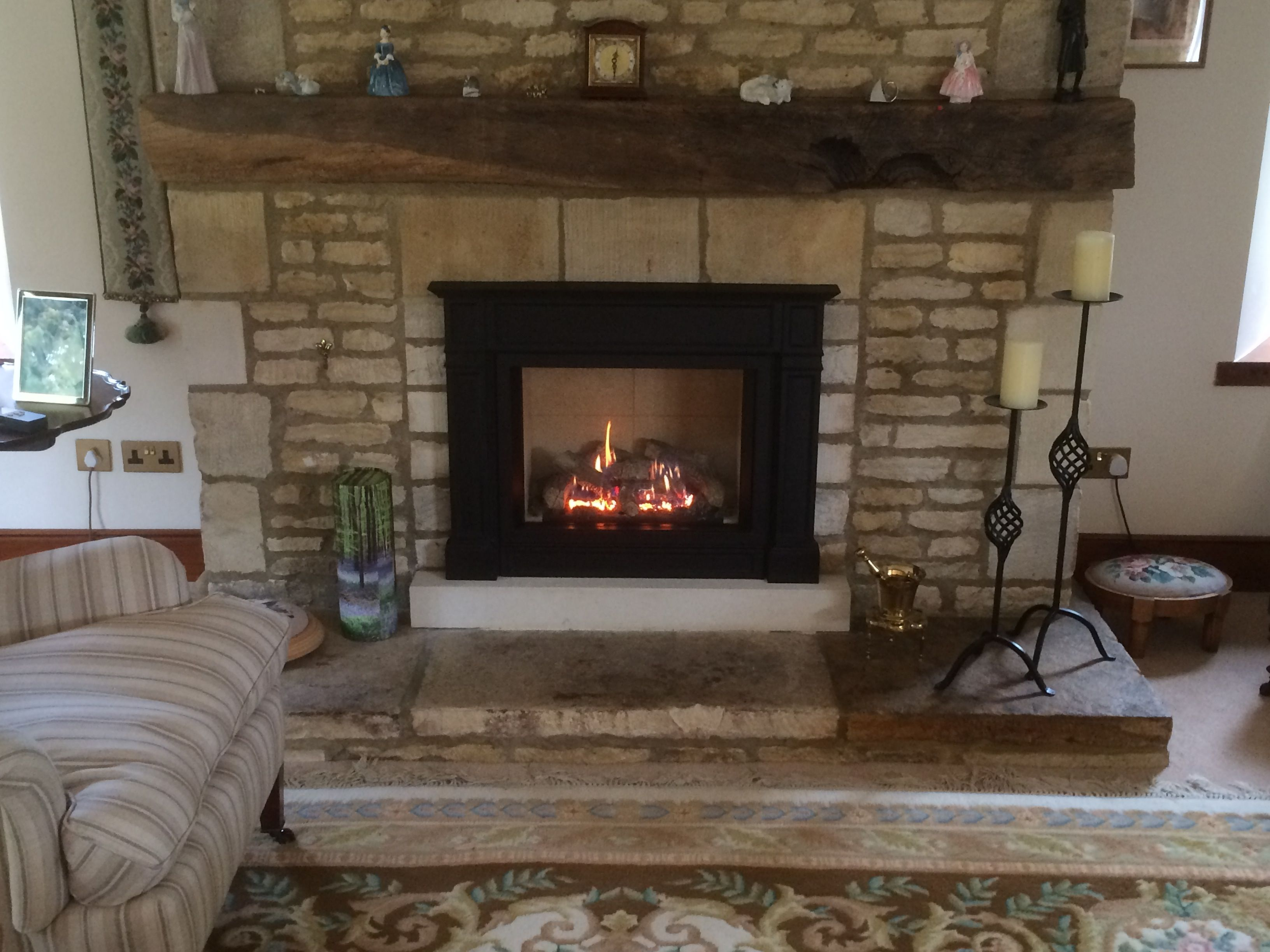 corinium stoves installation of a gazco riva 2 500 with an