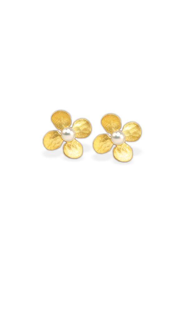 Golden Childs Ear Plug Flower Mini 750er Yellow Gold