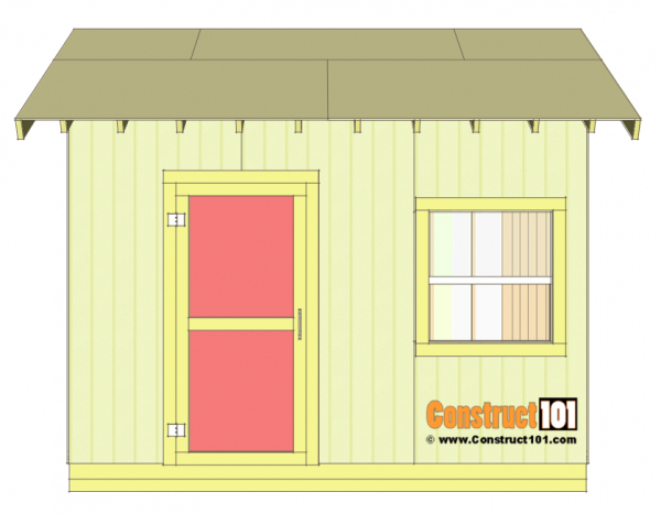 Shed Plans 10x12 Gable Shed Step By Step Construct101 In 2020 Building A Shed Shed Plans Diy Shed Plans