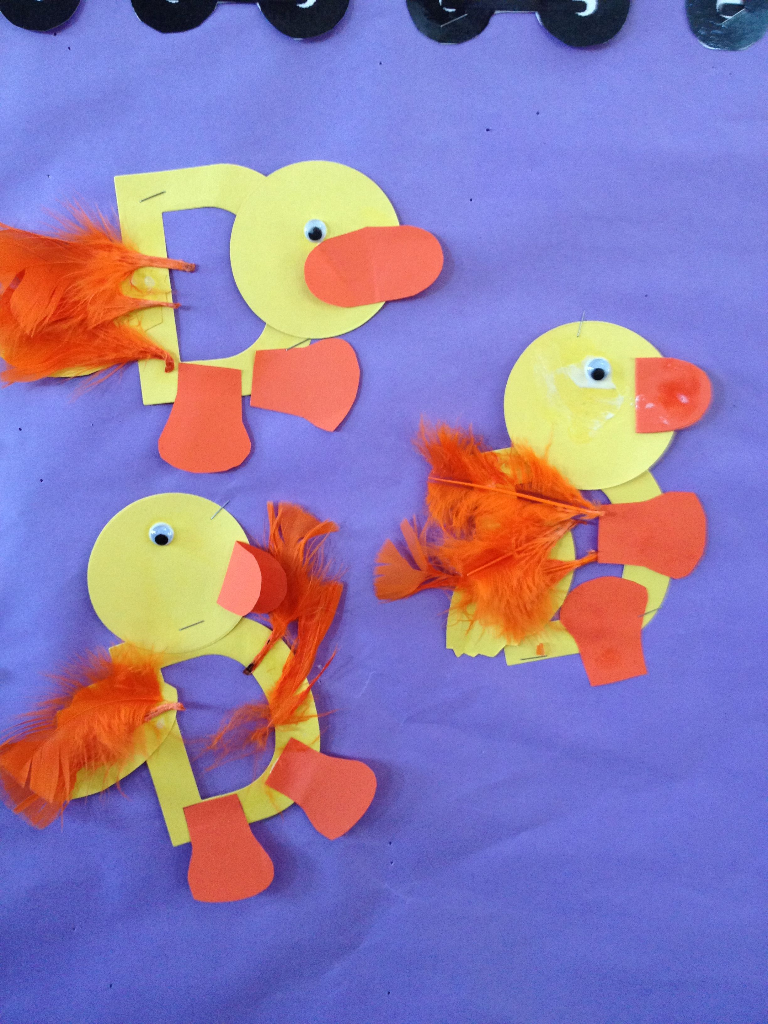 D Ducky Yellow Pre K Craft