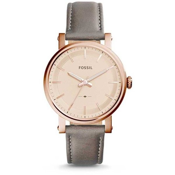 Fossil The Original Boyfriend Watch Grey Copper Gold 760 Cny Liked On Polyvore Featuring Jewelr Fossil Leather Watch Boyfriend Watch Fossil Watches Women