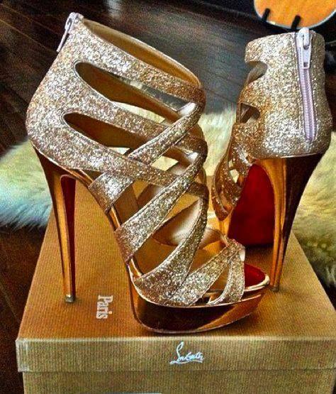 Silver & Gold Stilettos   I LOVE SHOES!   Pinterest