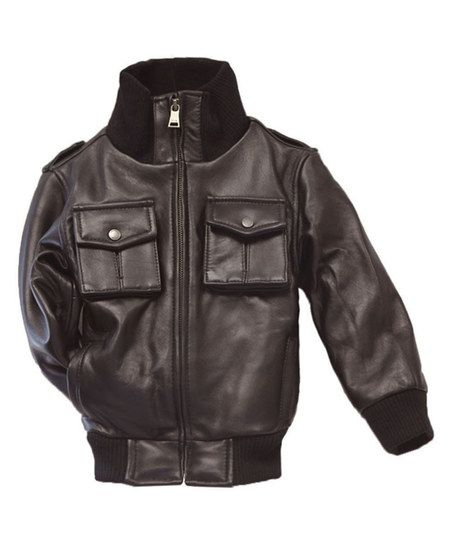 8a6f5c3c3 Tanners Avenue Brown Leather Bomber Jacket - Infant