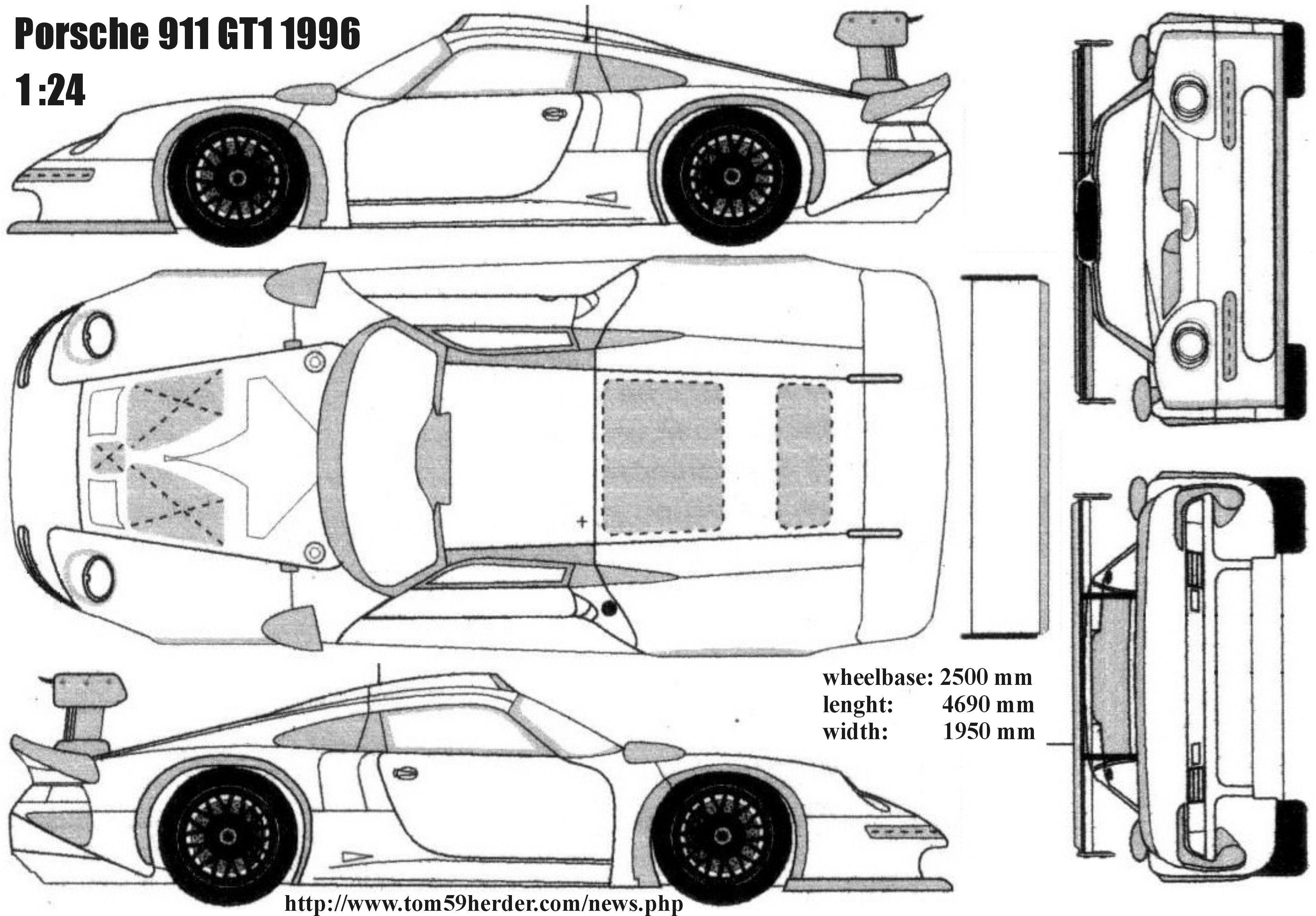 http://www.tom59herder.cz/img_bluepr/porsche_911GT1_96.jpg | Racing ...